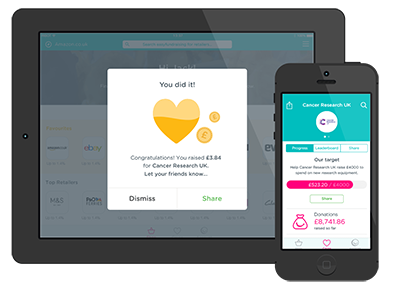 Raise even more with the easyfundraising app