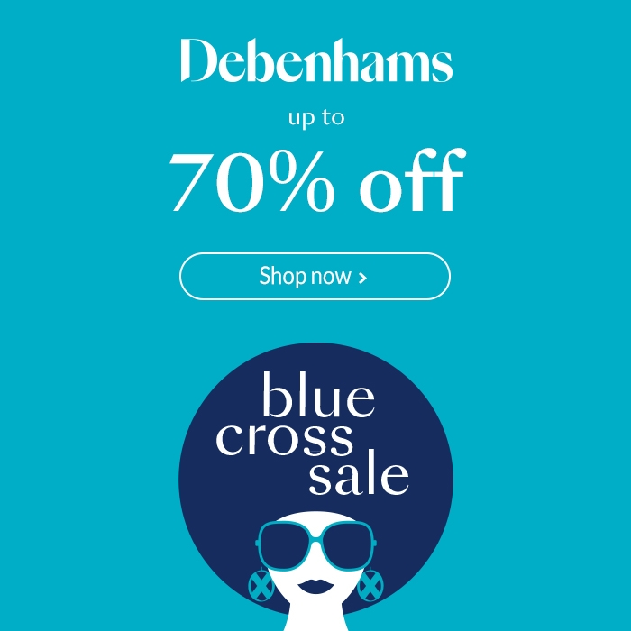 Up to 70% off Blue Cross Sale