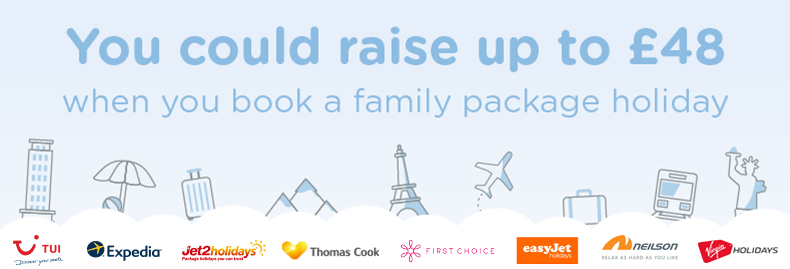 You could Raise up to £48 in donations when you travel