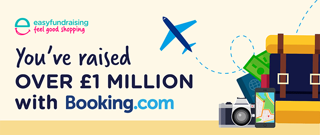 You've raised £1 million with Booking.com!