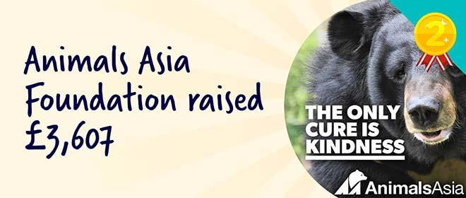 Animals Asia Foundation raised £3,607