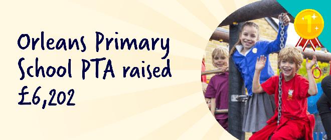 Orlean's Primary PTA raised £6,202