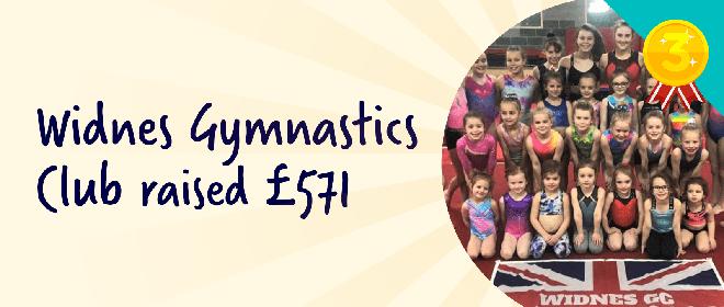 Widnes Gymnastics Club raised £571