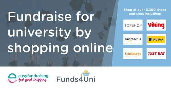 Fundraise for university by shopping online